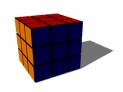 3-D looped Rubix Cube