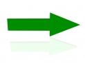3d Right Spinning Green Arrow