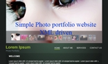Simple Photo portfolio website XML driven