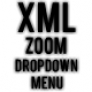 Dynamic XML Zoom DropDown Menu