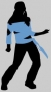 Silhouette dance animation
