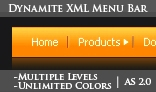 Dynamite XML menu bar- Unlimited Levels and Colors