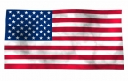 Flash 3d USA flag waving in the wind