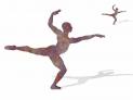 Seamless dancer spinning silhouette loop