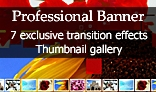 Professional Banner - 7 exclusive transition effects