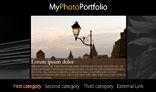 Horizontal Photo Portfolio Site