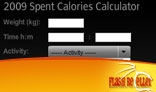 2009 Spent Calories Calculator