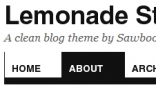 Lemonade Stand Blog Theme