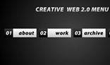 Creative web 2.0 menu