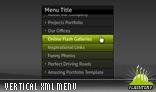 Vertical Scrolling Menu XML AS3