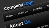 Corporate Black Layout - Simple to use - Web Design Template