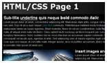 HTML CSS Page Renderer AS2