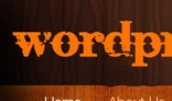 Wordpress dark wood
