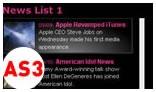 HTML News Ticker AS3