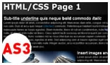 HTML CSS Page Renderer AS3