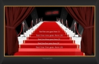Red Drapes Glamour Invitation