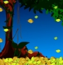 Leaf falling animated background
