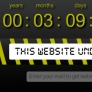 under construction template with coundown and send email