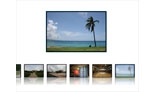 Photo Gallery - Horizontal Thumbnail Scrolling - Dynamic Gradient Mask