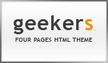 geekers, XHTML/CSS Theme