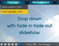 Drop down Menu with fade in fade out slideshow