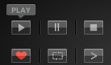 22 Video Playback Buttons  Glass Edition