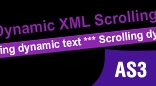 Dynamic XML Scrolling Text AS3