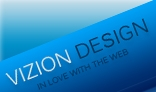 VizionDesign, A clean Fresh, blue coloured Business/Portfolio design.
