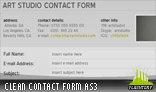 Clean Contact Form AS3 with Social Links