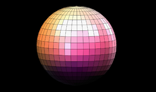 Spinning and rotating disco ball