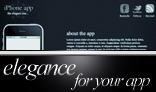 Elegance: iPhone app website