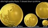 True 3D Golden Globe