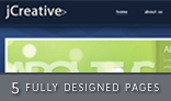 jCreative psd - Multiple pages blog / portfolio layout