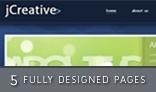 jCreative psd - Multiple pages blog / portfolio layout