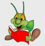Happy Green Bug Reader
