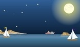 Night ocean animation