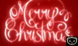 Handwritting Merry Christmas glow