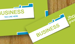 Eco friendly green business card