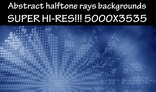 Abstract halftone rays backgrounds