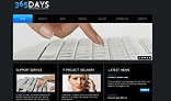 Corporate style Flash CMS template