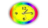 Rainbow Analog and Digital Clock