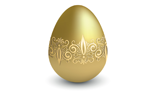 Easter gold egg