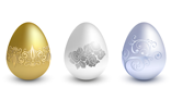 Easter metal eggs