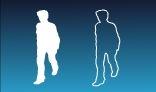 Walking woman Silhouette
