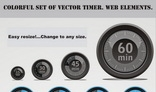 Colorful set of vector timer. Web elements.