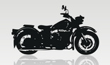 Silhouette of motor cycle