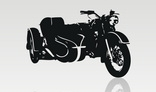 Motorcycle silhouette - vector