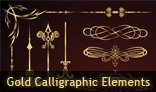 Gold Calligraphic Elements