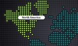 World map with navigation menu