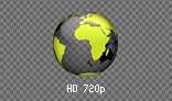 HD Spinning Earth Globe (for dark background)